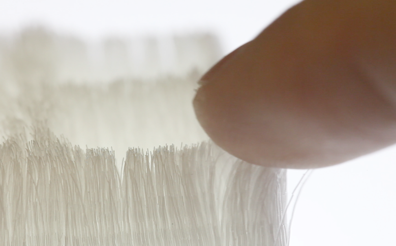 Each hair varies its diameter from 150 to 50 micrometer